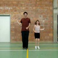 Rope Skipping 2people1 Kruisen Voor Partner